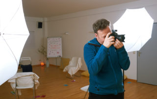 Hendrik Roggemann fotografiert bei der BeSeen-Experience