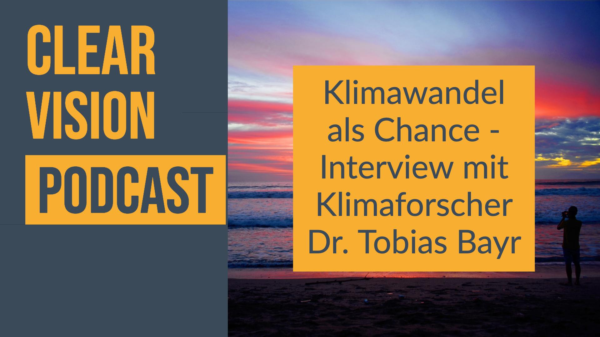 Klimaforscher Tobias Bayr im Interview